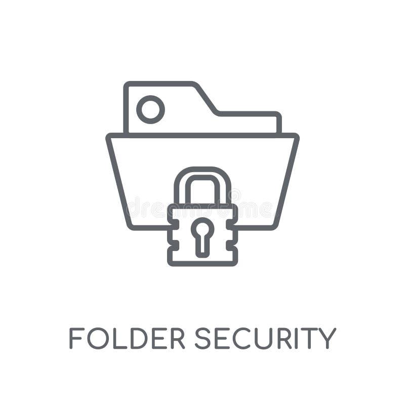 Het lineaire pictogram van de omslagveiligheid Modern de veiligheidsembleem van de overzichtsomslag royalty-vrije illustratie