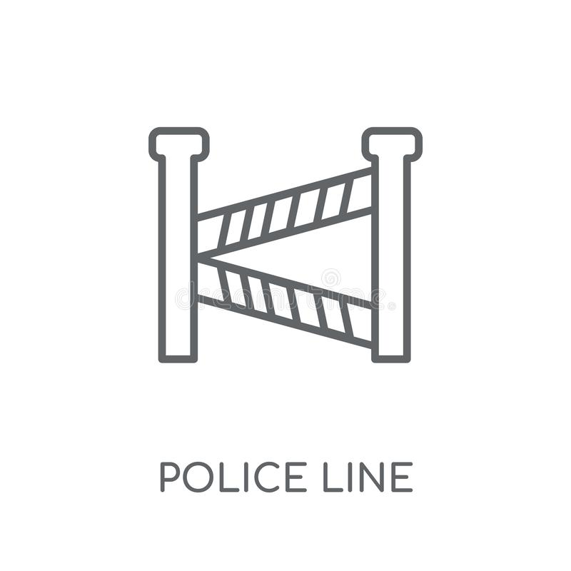 Het lineaire pictogram van de politielijn Het moderne concept van het de lijnembleem van de overzichtspolitie royalty-vrije illustratie