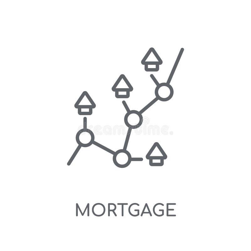 Het lineaire pictogram van hypotheekstatistieken Moderne statist van de overzichtshypotheek vector illustratie