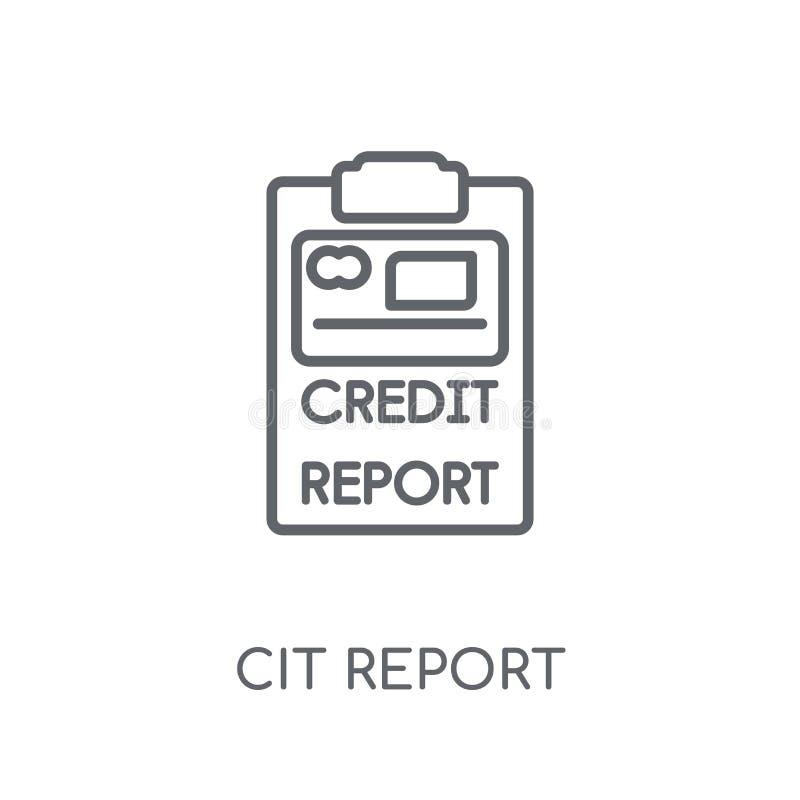 het lineaire pictogram van het kredietrapport Het moderne het rapportembleem van het overzichtskrediet bedriegt vector illustratie
