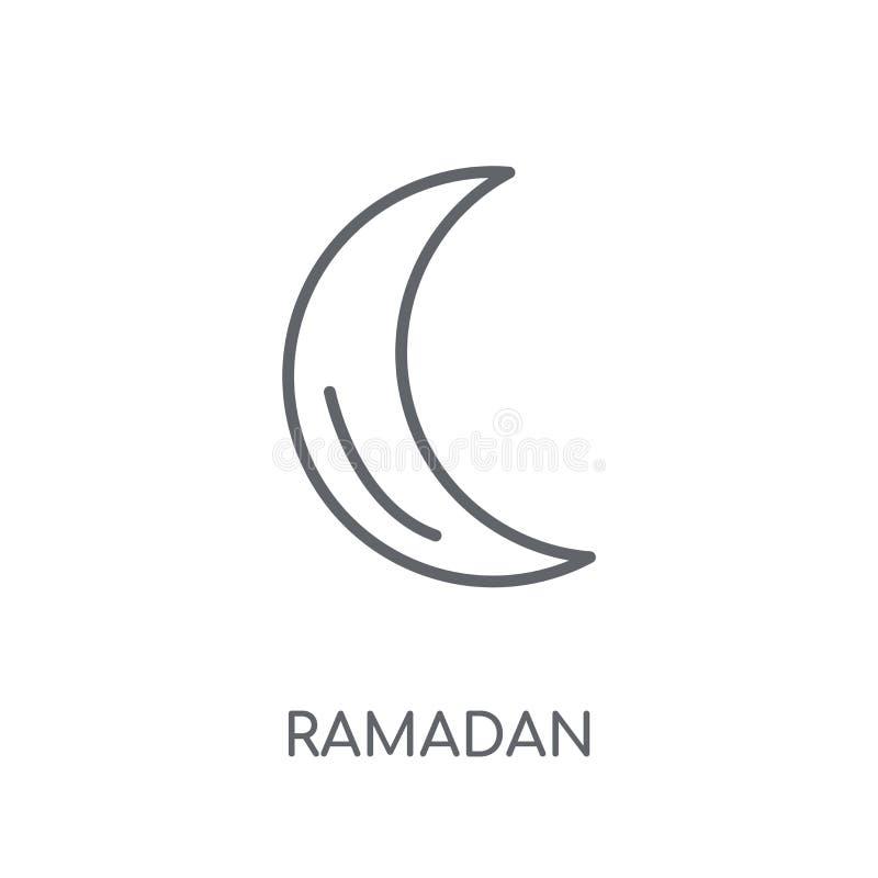 Het lineaire pictogram van Ramadan Crescent Moon Modern overzicht Ramadan Cresce stock illustratie