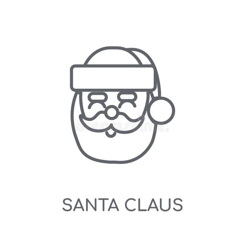Het lineaire pictogram van Santa Claus Modern het embleemconcept van de overzichtskerstman royalty-vrije illustratie