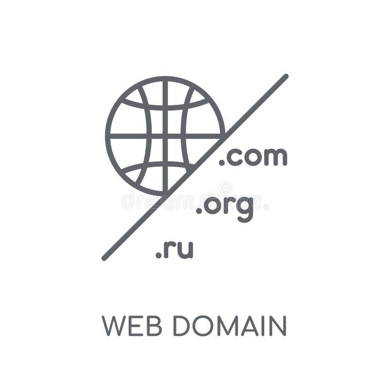 Het lineaire pictogram van het Webdomein Het moderne van het het domeinembleem van het overzichtsweb concept o vector illustratie