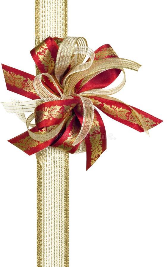 Het Lint Van De Hulst Van Kerstmis Stock Afbeeldingen