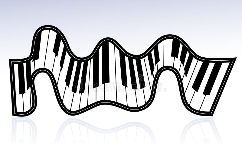 Het lint van de piano vector illustratie