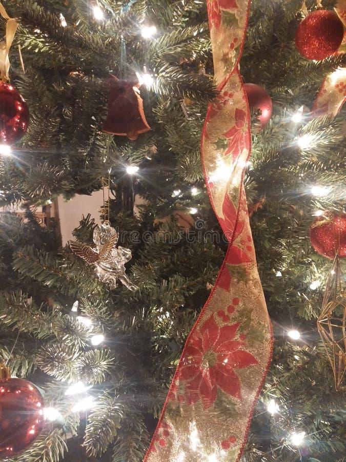 Het lint van Kerstmis stock foto's
