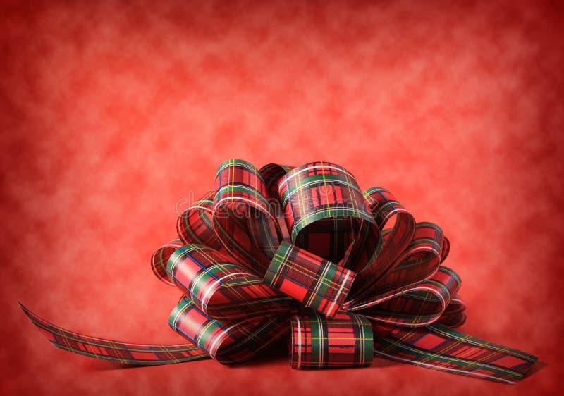 Het lintboog van Kerstmis stock fotografie