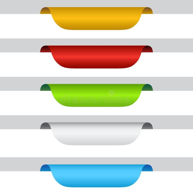 Het lintreeks van markeringsetiketten vector illustratie