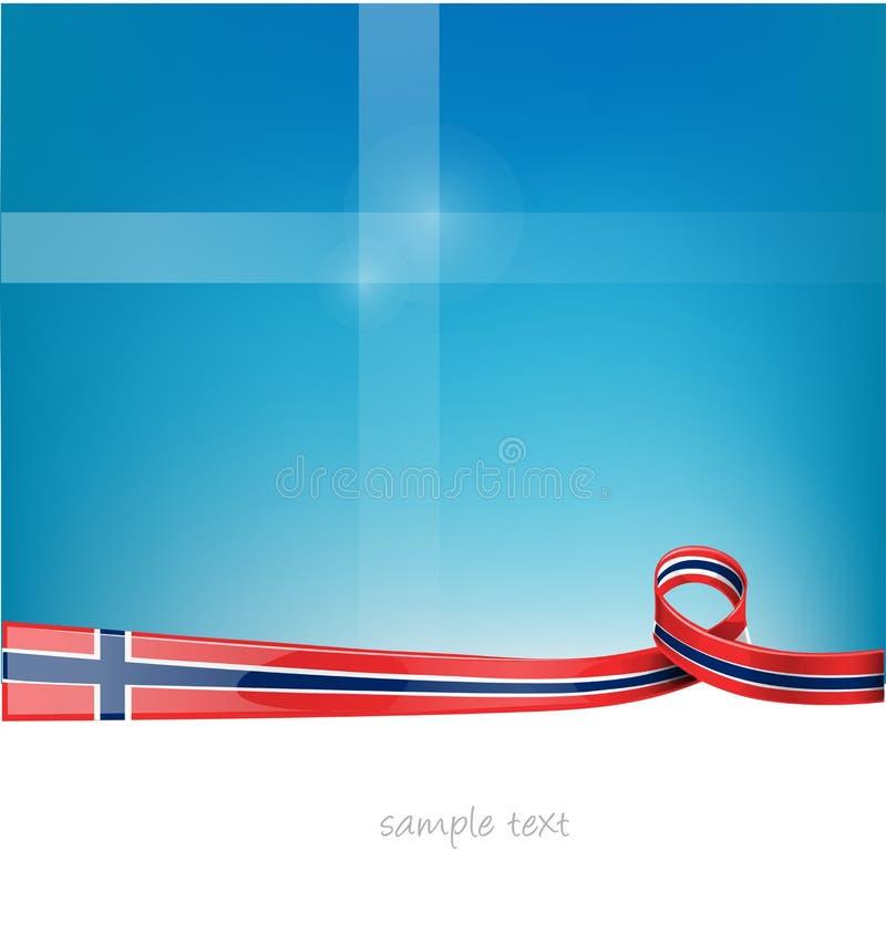 Het lintvlag van Noorwegen stock illustratie
