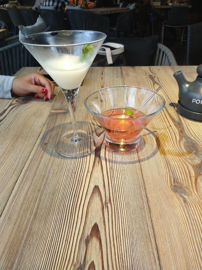 Het Litchidrank van cocktailssushibar stock foto's