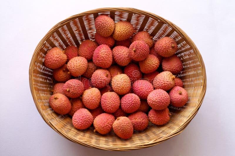 Het litchilitchi van de lychee - chinensis Lychee royalty-vrije stock afbeeldingen