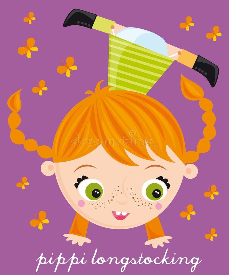 Het longstocking van Pippi stock illustratie