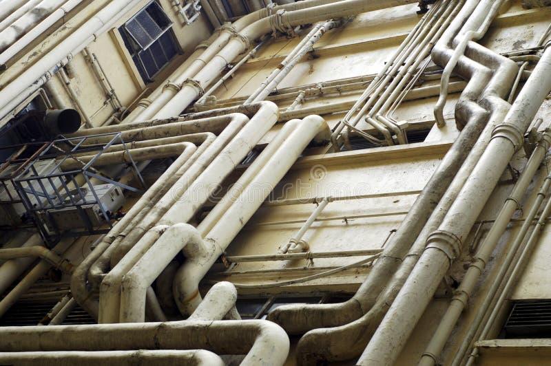 Het Loodgieterswerk van Hongkong royalty-vrije stock afbeelding