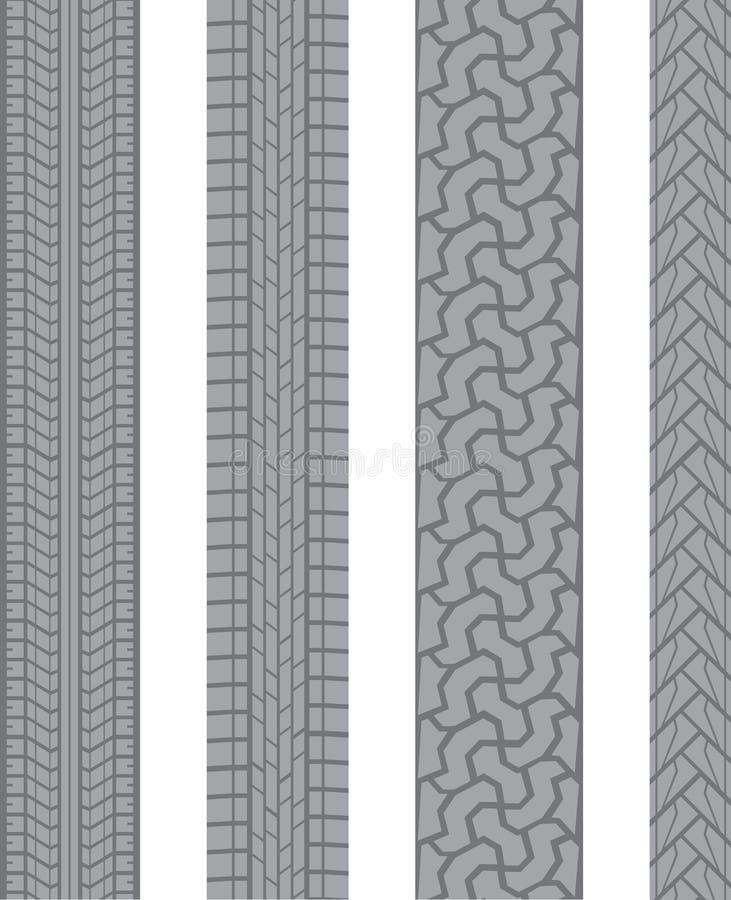 Het loopvlak van de band vector illustratie