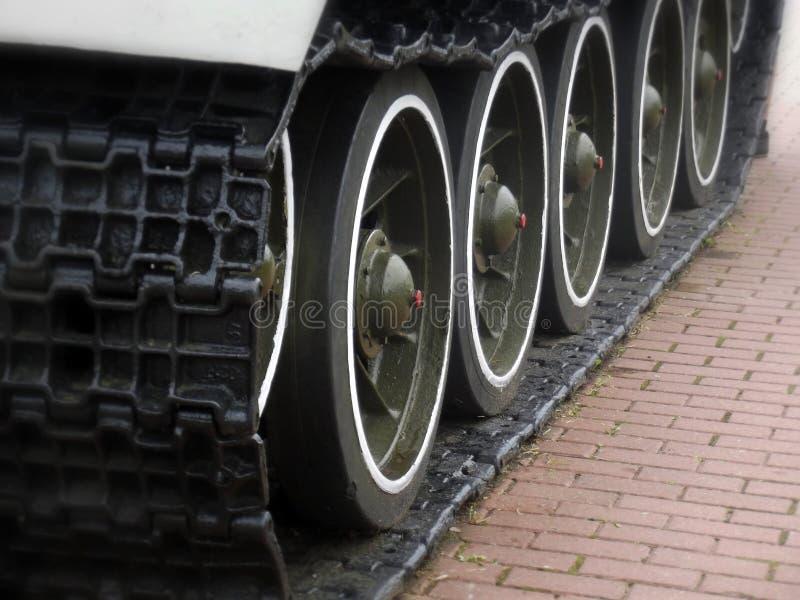 Het Loopvlak van tankcaterpillar stock afbeelding