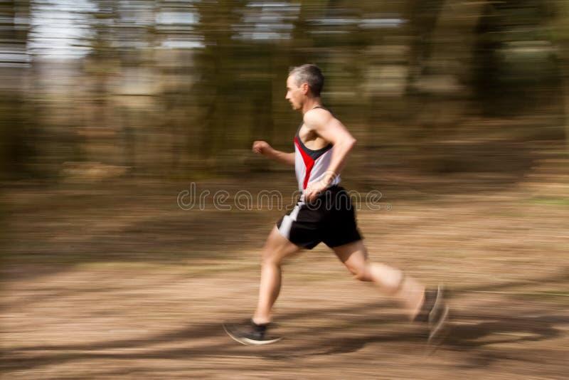 Het lopen athlet stock foto