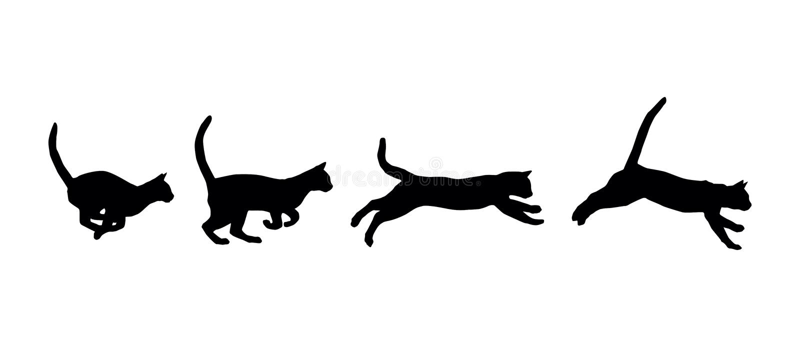 Het lopen kat vector illustratie