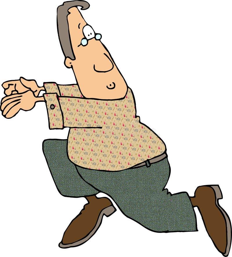 Het lopen Man2 vector illustratie