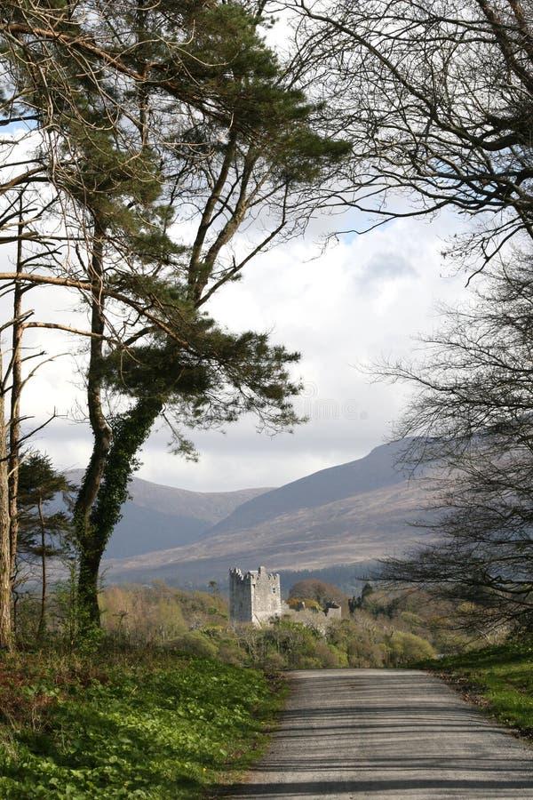 Het lopen neer aan het kasteel stock afbeelding