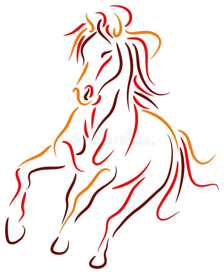 Het lopen paard stock illustratie