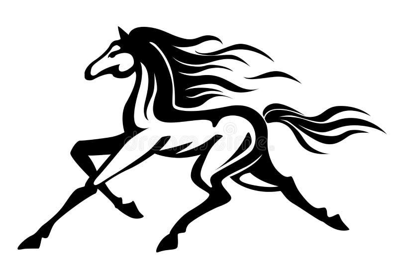 Het lopen paard royalty-vrije illustratie