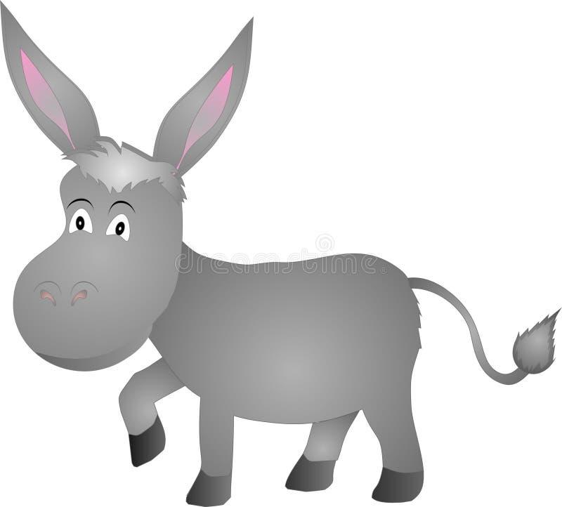 Het lopen van de ezel stock illustratie