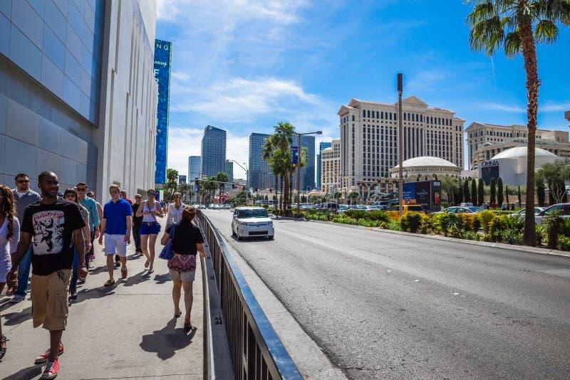 Het lopen van de strook van Las Vegas stock fotografie