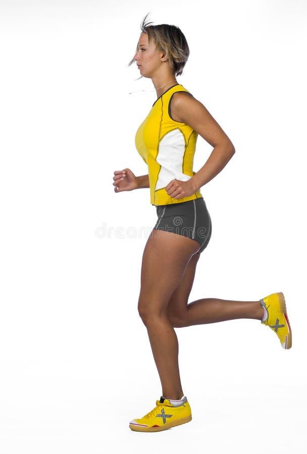 Het lopen van de vrouw stock afbeelding