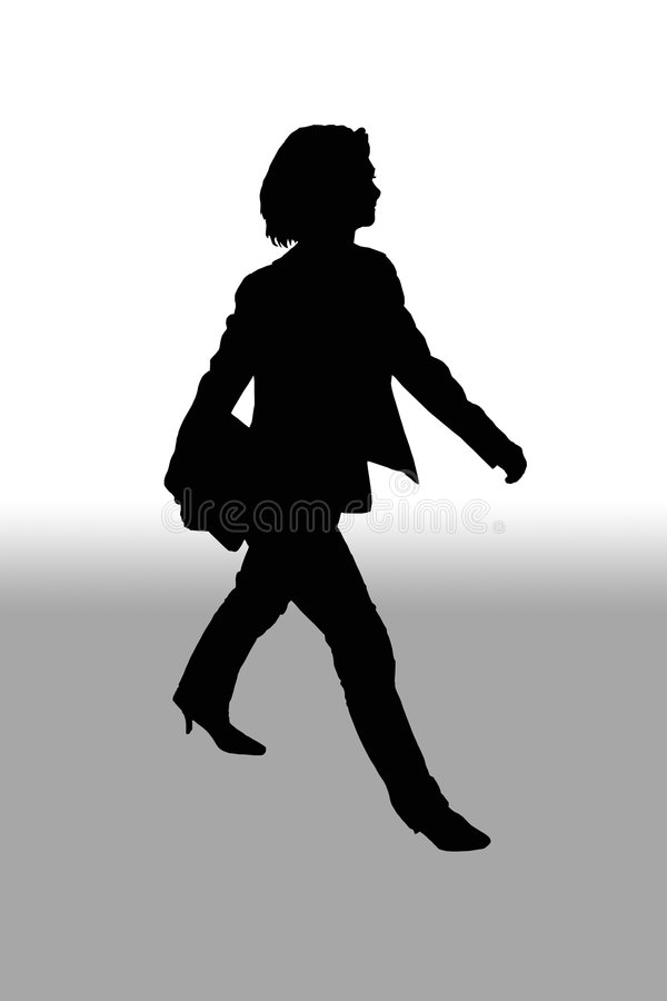 Het lopen van de vrouw stock illustratie
