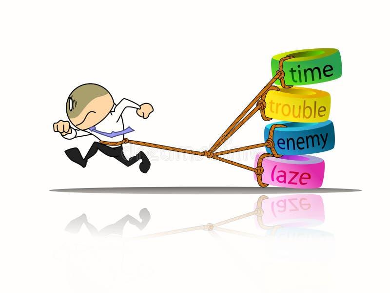 Download Het lopen van de zakenman stock illustratie. Illustratie bestaande uit running - 29502327