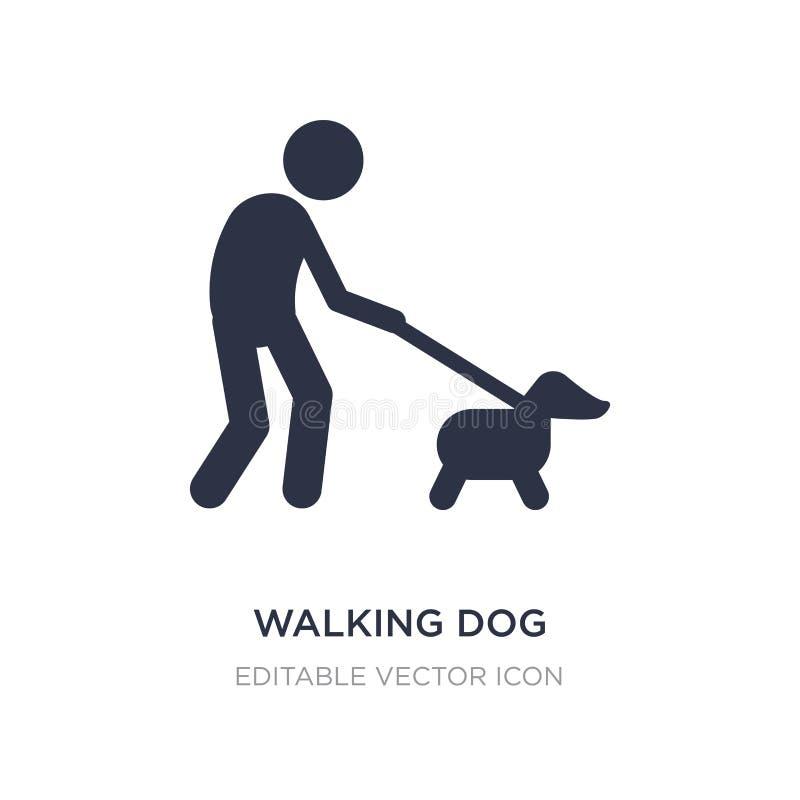 het lopen van hondpictogram op witte achtergrond Eenvoudige elementenillustratie van Dierenconcept vector illustratie