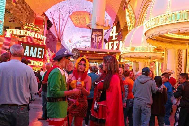 Het lopen van Las Vegas Halloween royalty-vrije stock afbeelding