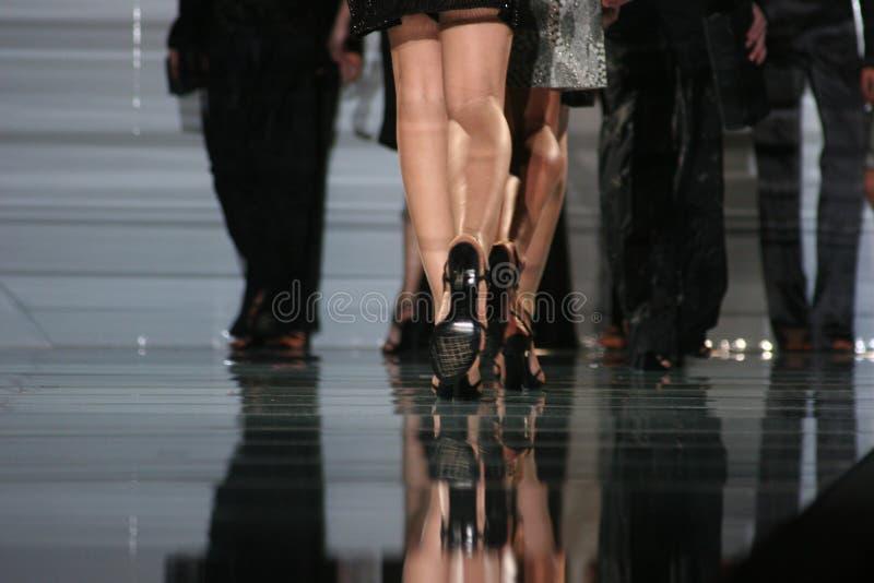 Het lopen van Mirrow stock foto