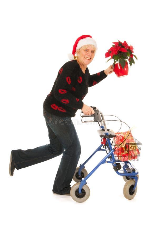 Het lopen voor Kerstmis royalty-vrije stock afbeelding