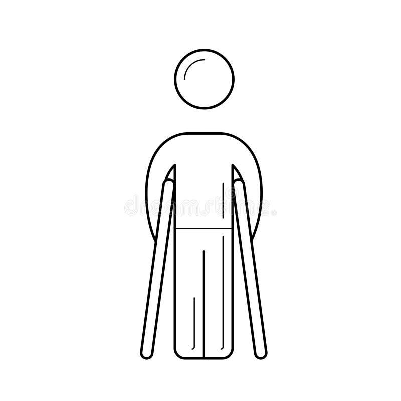Het lopende pictogram van de steunpilarenlijn royalty-vrije illustratie