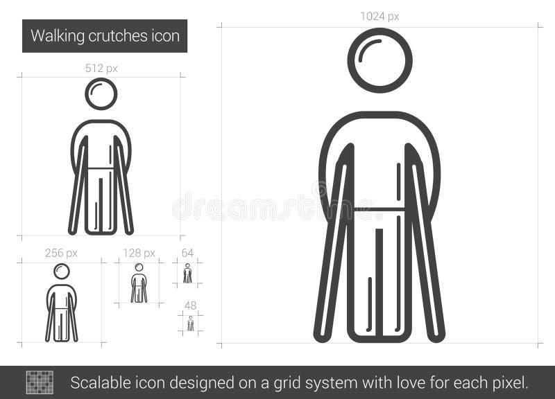Het lopende pictogram van de steunpilarenlijn vector illustratie