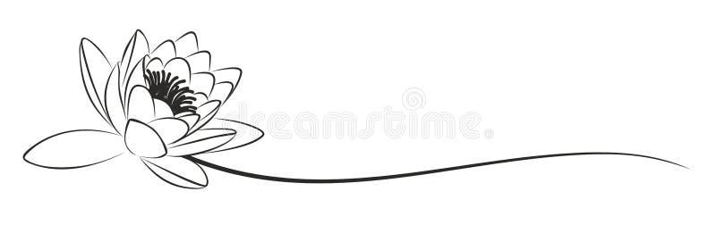 Het lotusbloemembleem vector illustratie