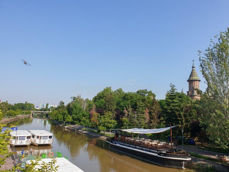 Het lucht bespuiten in Timisoara stock afbeelding