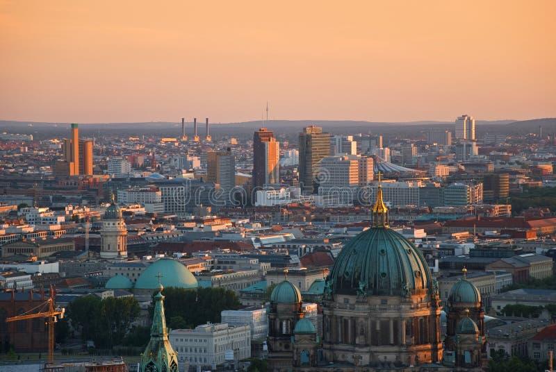 Het luchtbeeld van Berlijn royalty-vrije stock afbeelding