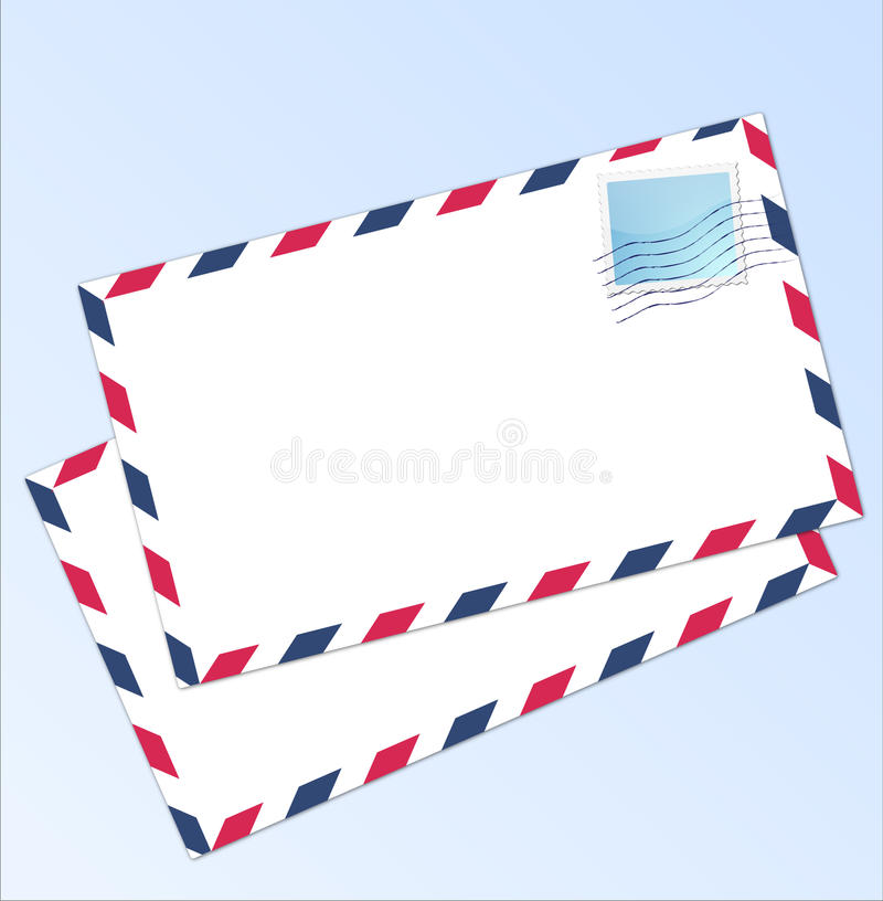 Het luchtpost van de brief stock illustratie