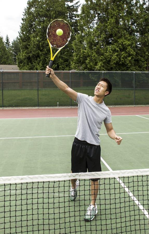 Het LuchtSalvo van het tennis stock foto's