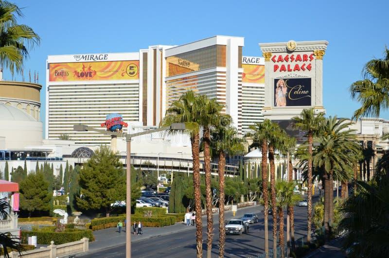 Het Luchtspiegelinghotel en het Casino, Caesars Palace, mengden gebruik, onroerende goederen reclame, woonwijk royalty-vrije stock foto's