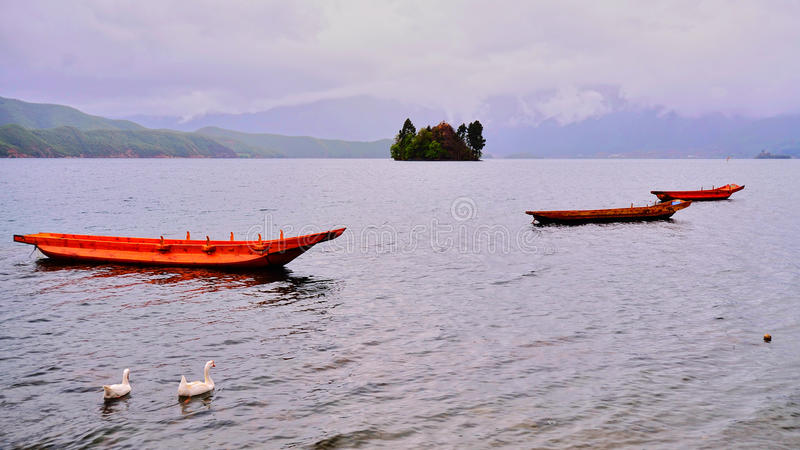 Het Lugu-Meer royalty-vrije stock afbeeldingen