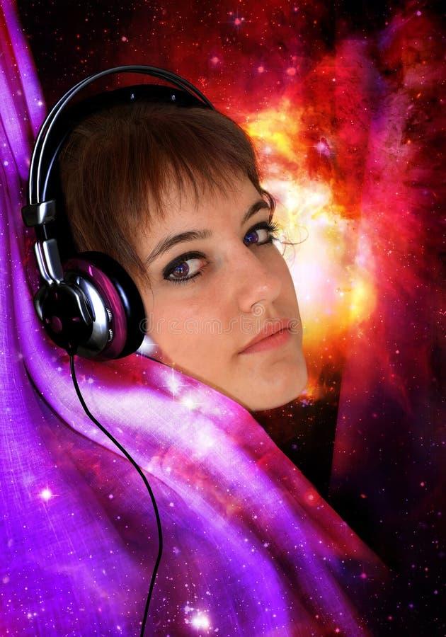 Het luisteren aan de muziek vector illustratie