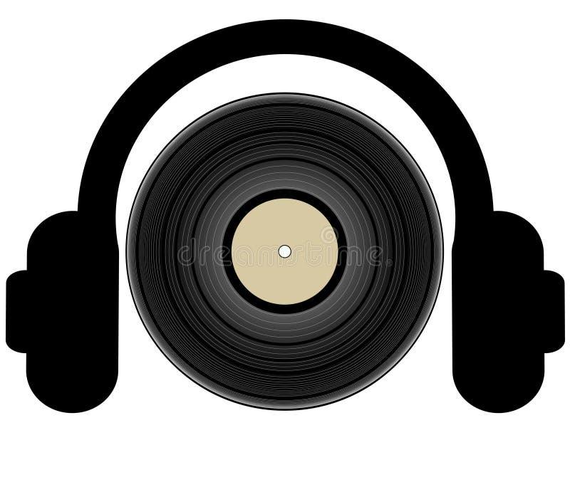 Het luisteren aan muziek vector illustratie