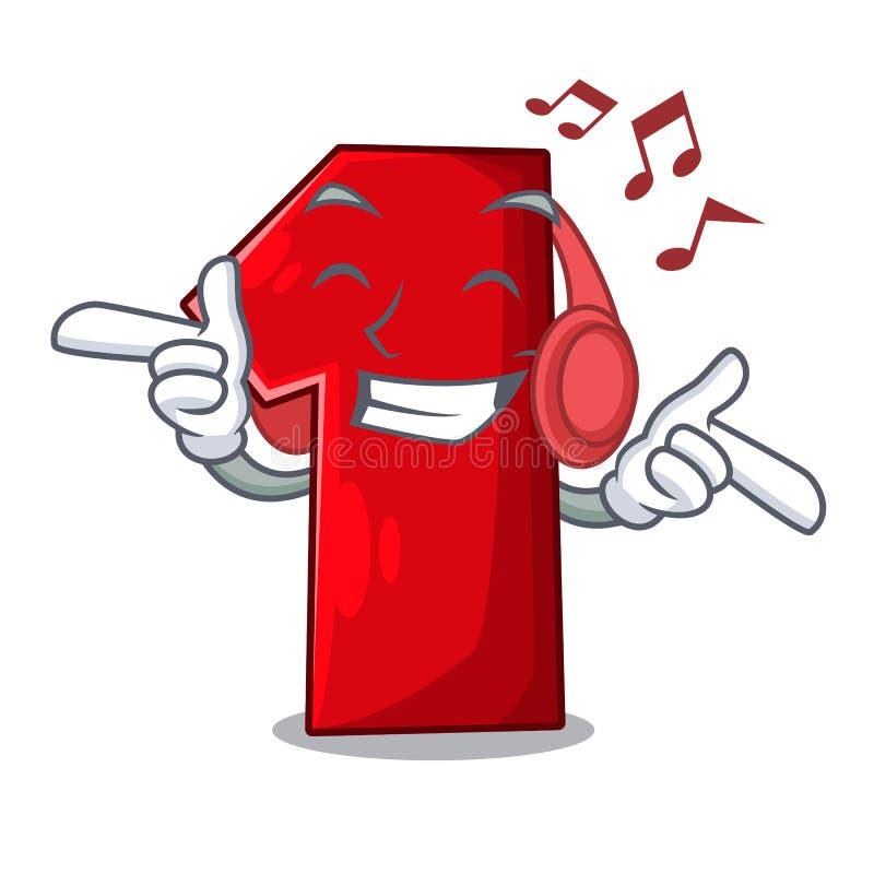 Het luisteren muziekbeeldverhaal het aantal voor kampioen royalty-vrije illustratie