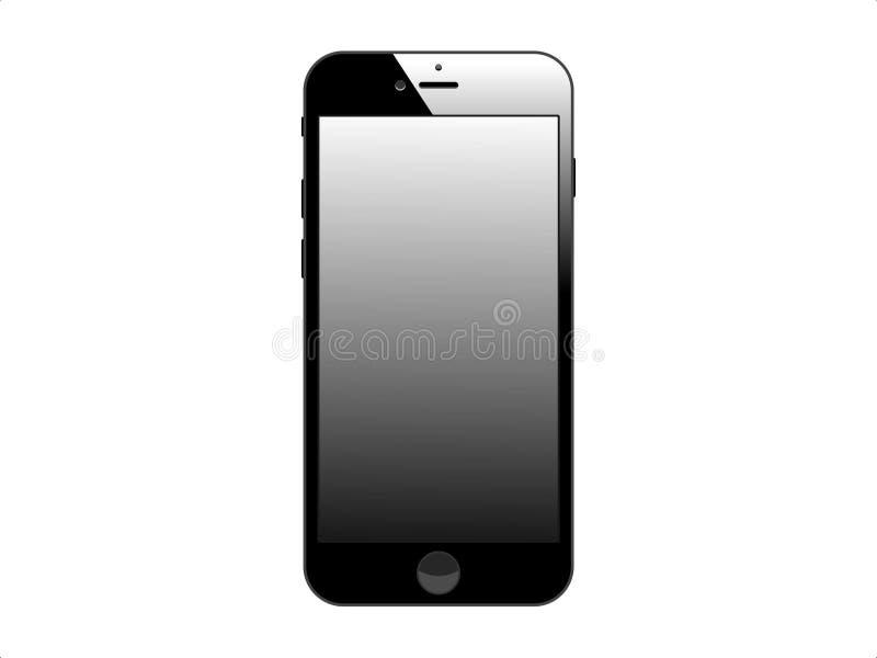 Het luxe mobiele apparaat op witte achtergrond stock illustratie