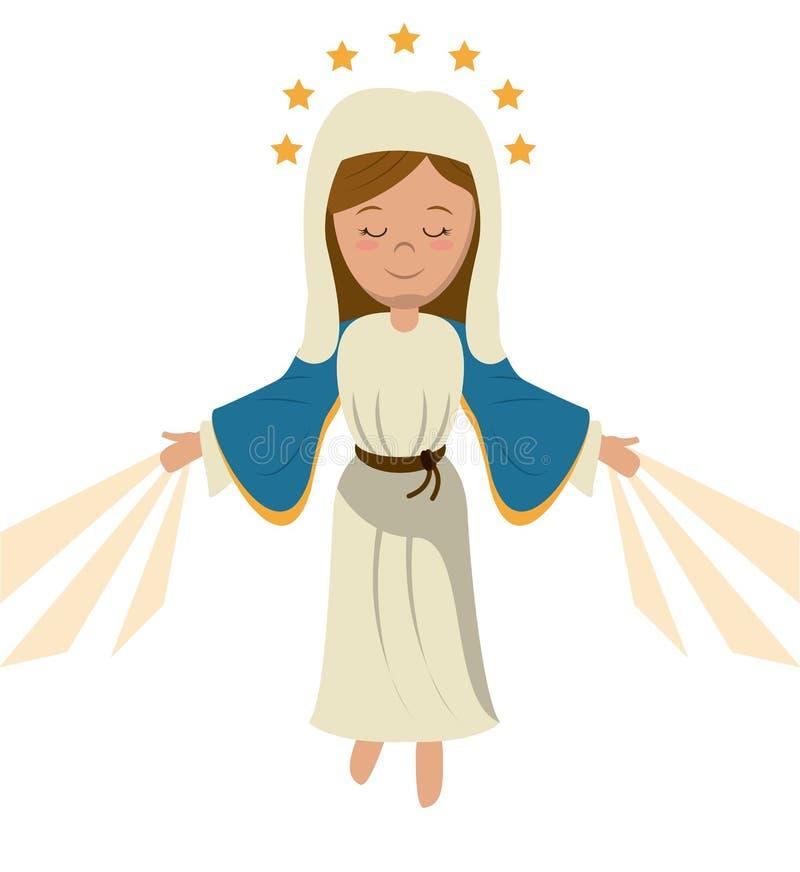 Het maagdelijke heilige beeld van Mary beklimming stock illustratie
