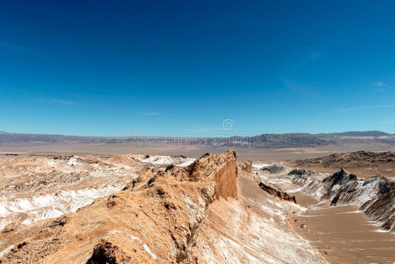 Het maanachtige landschap van duinen, de ruwe bergen en de geologische rotsvormingen van Valle DE de vallei van La Luna Moon in A royalty-vrije stock afbeeldingen