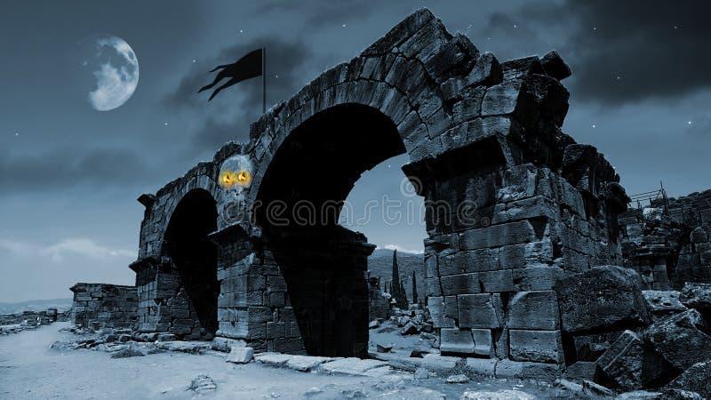 Het maanlicht van de verschrikking stock afbeeldingen